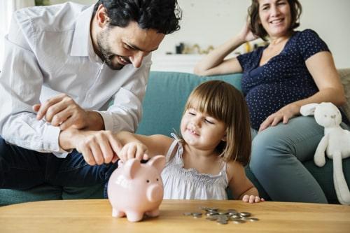 familie sparschwein baukindergeld